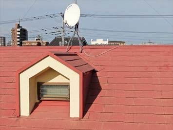 昭島市朝日町にてドローンを使って屋根の点検を行いました