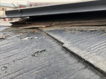 昭島市玉川町で屋根の調査を行い、棟板金の剥がれを見つけました
