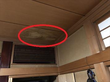 文京区千駄木で築30年陸屋根の住宅で雨漏りの原因を調査しました