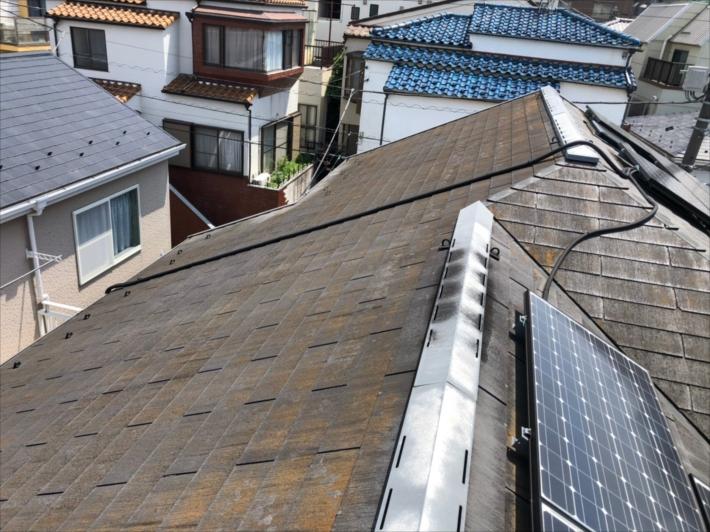 グリシェイドで葺かれた屋根