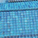 ドローンで青緑瓦の屋根を点検