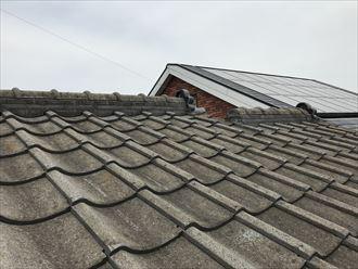 セメント瓦屋根の棟状況
