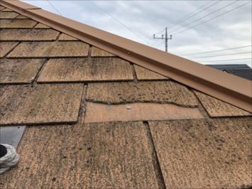 割れた屋根
