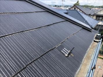 アスベスト入りの屋根