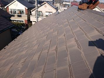 塗装工事をおこなった屋根