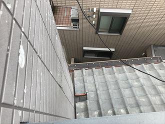 江戸川区大杉で瓦屋根のズレが原因の雨漏りのご相談、現地調査にお伺い致しました