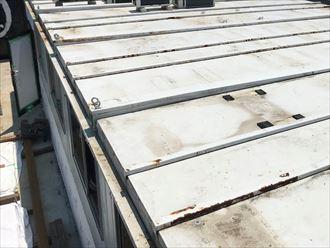 瓦棒屋根の錆び