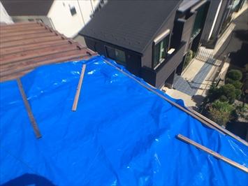 目黒区碑文谷にて屋根の養生工事を行いました
