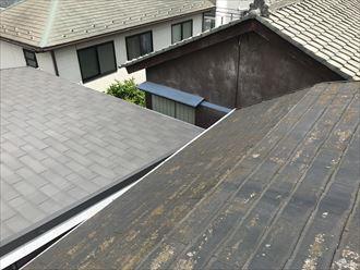 スレート屋根の腰折れ