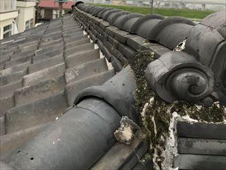 江戸川区江戸川で瓦屋根の点検調査、棟取り直し施工のご提案