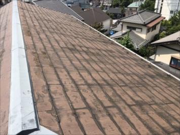 塗装が劣化した屋根