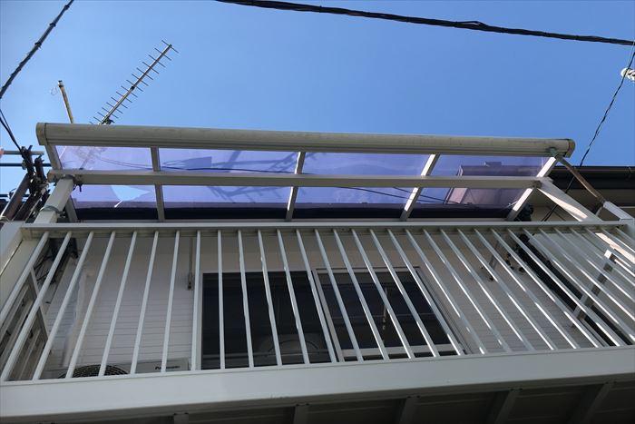 平板屋根の割れが発生
