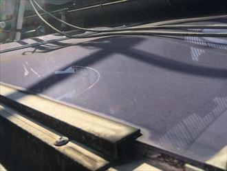 平板屋根の取付状況