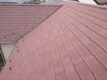 10年程前に塗装したスレート屋根