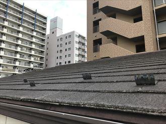 10年を経過したスレート屋根