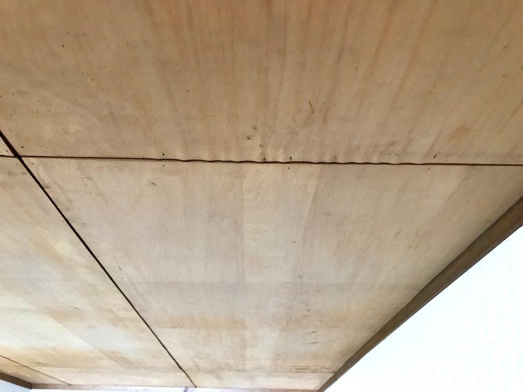 雨漏りが起きた手前の天井