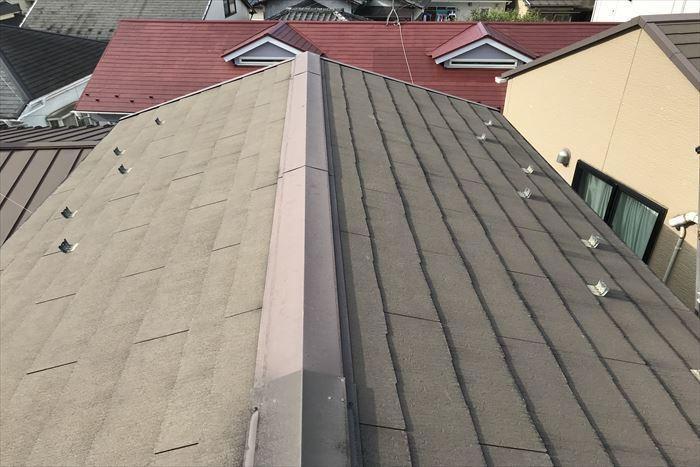 築10年目のスレート屋根